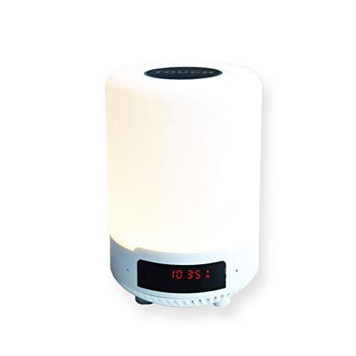 Preisvergleich Produktbild YLEI Nachttischlampe mit Bluetooth Lautsprecher,  LED Nachtlampe 3 Helligkeitsmodi / 7 Farben USB Stimmungslicht für Schlafzimmer Kinder Geschenk (3W)