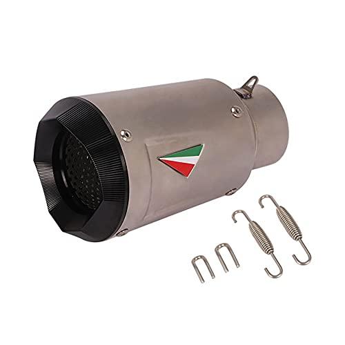 PGONE Moto Tubo de Escape de Acero Inoxidable Silenciador de Escape Cola cónica, Accesorios de reacondicionamiento de Motocicleta Adecuado para Motocicletas de Calibre 60,5 mm como (Color : A)