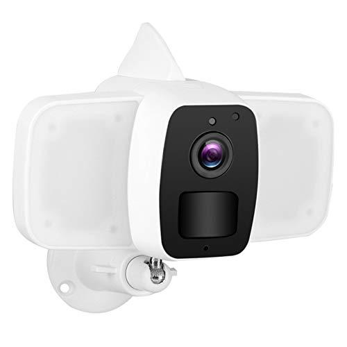 Cámara de Seguridad para Exteriores, detección de Movimiento con Reflector, cámara IP de Audio bidireccional WiFi para Seguridad en el hogar para jardín