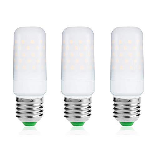 LOHAS E27 LED Kerze Lampen, Warmweiß, 9W, 80Watt Glühlampe äquivalent, 1000lm, 2700K, Kleine Edison Schraube Kerze Glühbirnen, Nicht Dimmbar, 220-240V AC, 3er Pack