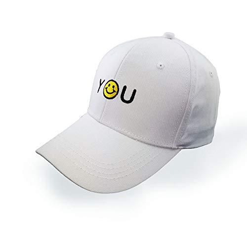 Preisvergleich Produktbild ICVDSRG Baseball Cap Visier Wild Outdoor Sport Baumwolle Freizeit Sonnenhut Einstellbar, White, Adjustable