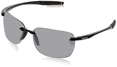 Revo Unisex adulto RE 1070XL 01 GY Gafas de sol rectangulares polarizadas Re 1070xl Descend Xl 65 mm