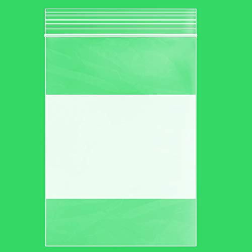 Clear Plastic RECLOSABLE Zip Bags - GPI Case of 1,000 4 x 6 2 mil Thick Strong & Durable Poly Baggies with Resealable Zipper Top Lock & Write-on White Block, for Storage, Packaging & Shipping