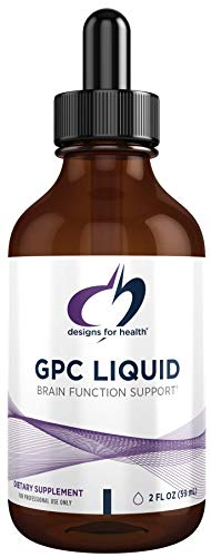 Designs for Health GPC Liquid Drops - 600mg Soy Free Alpha Glycerophosphocholine Supplement, Non-GMO GPC Choline from Sunflower Lecithin - Supports Healthy Brain Function (30 Servings / 2oz)