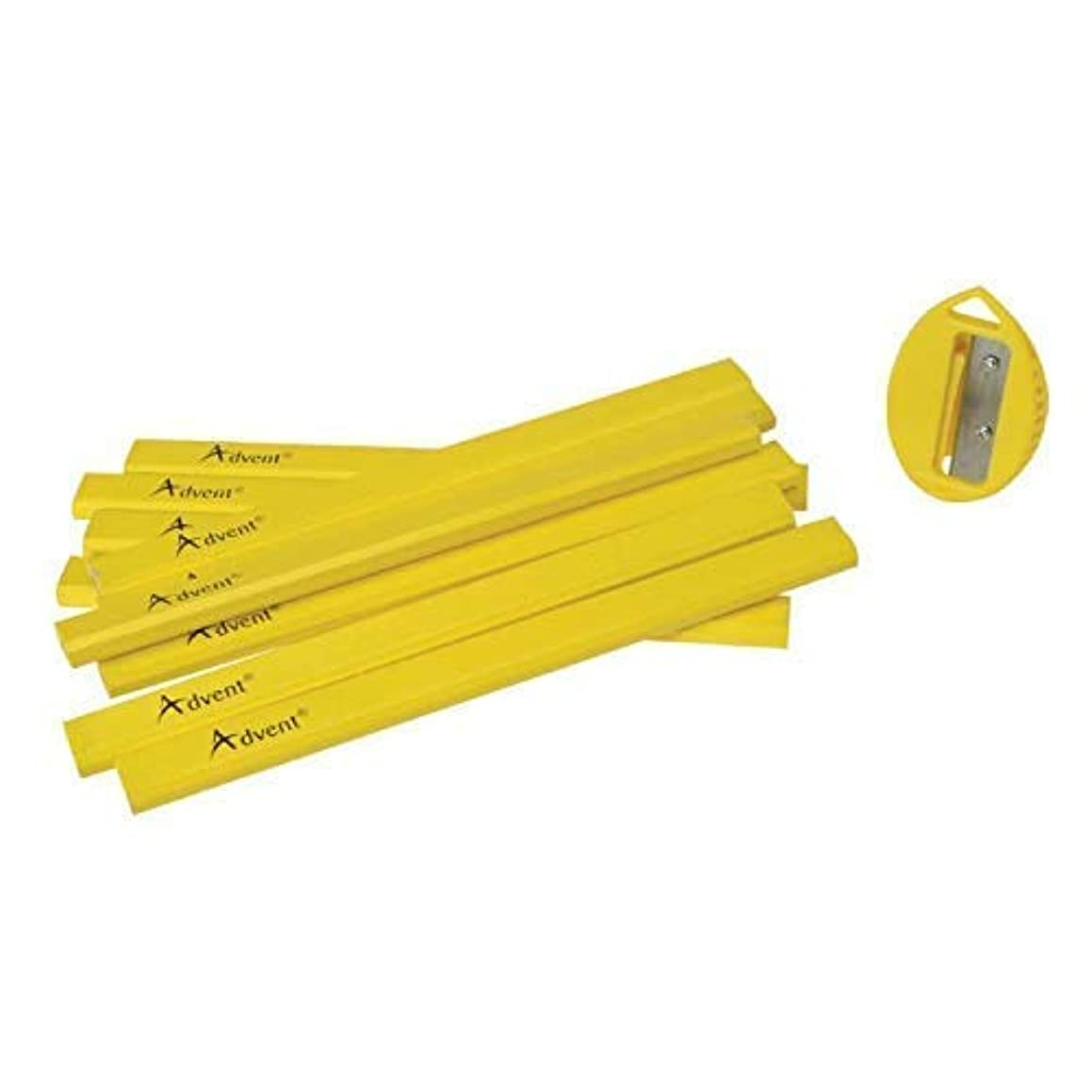 realdealforyou.co.uk XMS18PENCILS Advent Carpenter Pencils (Pack of 10) & Sharpener,