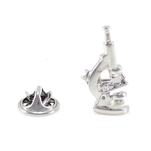 MENDEPOT Novelty Silver Tone Microscope Lapel Pin