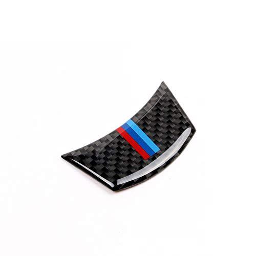 Lfldmj Für BMW E60 E61 5 Serie 2004-2010 , Carbon Lenkrad Aufkleber M Streifen Emblem 3D Auto AufkleberAuto Styling Zubehör
