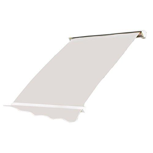 Outsunny Tenda da Sole Avvolgibile a Caduta in Alluminio e Poliestere 280 g/m2 Impermeabile in PU 120x70cm