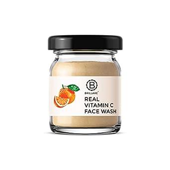 Brillare 100% Natural Real Vitamin C Face Wash | For Skin Brightening | Reduces Pigmentation, Dark Spots | Contains Orange and Vitamin C| No Chemicals, No Preservatives, Sulfate & Paraben Free