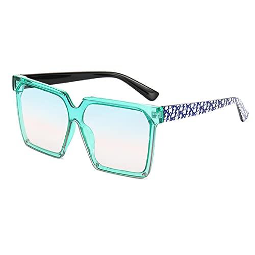 NBJSL Gafas de sol de moda Mujer Gafas de sol de una pieza de tendencia europea y americana Gafas de una pieza de calle (Caja de embalaje exquisita)