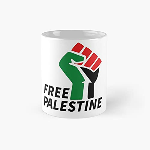 Free Palestine Classic Mug - 11 Ounce For Coffee, Tea, Chocolate Or Latte.