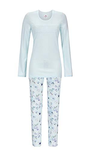 La plus belle Damen Pyjama mit feinem Spitzenband Baby Blue 46 9581210, Baby Blue, 46