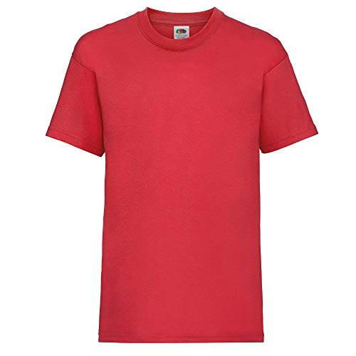KINDER T-SHIRT FRUIT OF THE LOOM VALUE 128 140 152 164 140,Rot