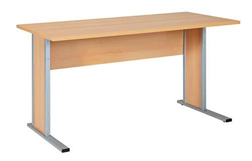 Möbelpartner Manni Schreibtisch, samerbergbuche, ca. 140,0 x 65,0 x 72,2 cm