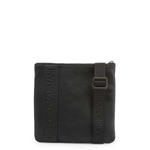 Emporio Armani Debossed Logo Herren Cross Body Bag Schwarz
