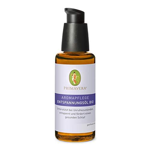PRIMAVERA Aromapflege Entspannungsöl bio 50 ml - Aromaöl, Massageöl, Aromatherapie, ätherische Öle - Entspannung bei Unruhezuständen, für gesunden Schlaf - vegan