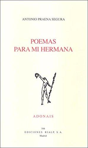 Ado598. Poemas Para Mi Hermana (Poesía. Adonais)