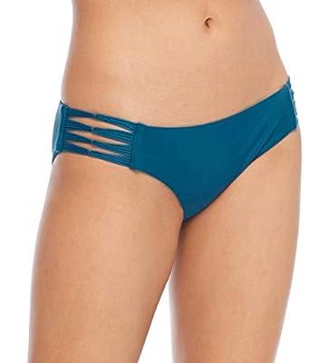 Body Glove Women's Ruby Solid Bikini Bottom Swimsuit, Smoothie Prussian, Medium