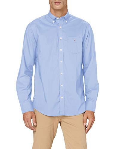 GANT The Broadcloth Reg BD Camicia, Blu (Hamptons Blue 420), Large Uomo