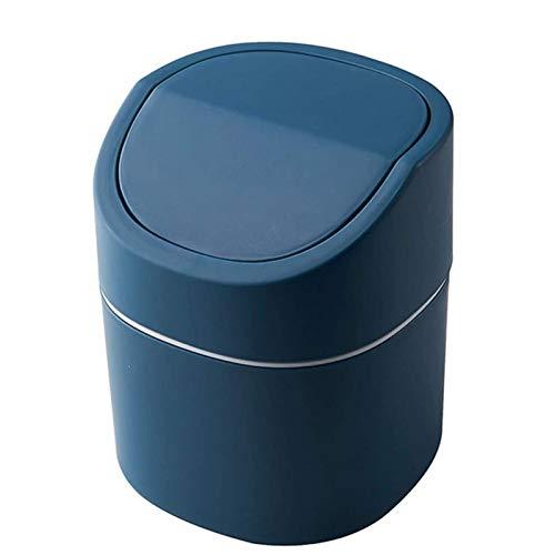 Bote de Basura Humano Simple Cubo de Basura de Escritorio Lindo Cubo de Basura de Mesa para el hogar Artículos Diversos Cubo de Almacenamiento de Coche con Tapa Mini Sala