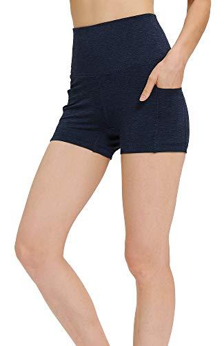 icyzone icyzone Damen Tights Shorts Sport Kurze Hosen - Laufshorts Fitness Yoga Leggings (XL, Navy)