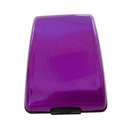 cottonlilac RFID Aluminum Alloy Wallet Multi-Function Card Case Aluminum Bank Card Case Fashion Wallet Bank Card Business Card Case - Purple