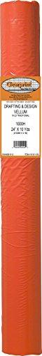 Clearprint 1000H Design Vellum Roll, 16 lb., 100% Cotton, 24 Inches W x 10 Yards Long, 1 Each (10101129),Translucent White