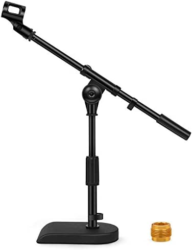 InnoGear Adjustable Desk Microphone Stand Weighted Base with Soft Grip Twist Clutch Boom Arm product image