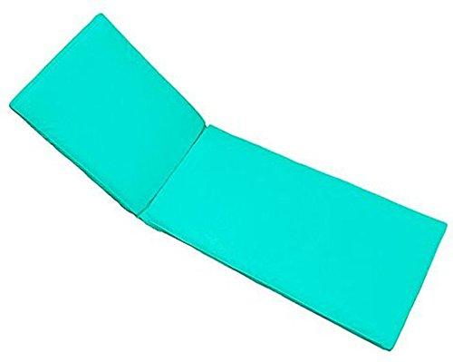 PEGANE Coussin pour Bain de Soleil déhoussable Coloris Turquoise - Dim : 190 x 60 x 5cm