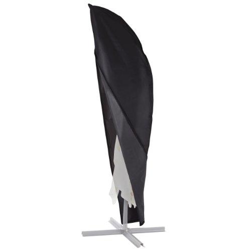 Ultranatura Schutzhülle, für Ampelschirm passend für 2m, 3m, 3,5m Durchmesser, Sonnenschirm-Hülle, UV-Schutz, durchgängiger Reißverschluss und Boden Kordelzug, aus Oxford 600D, wetterfest