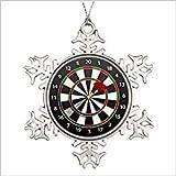Monsety Schneeflocken-Ornament Huky Dartscheibe mit Dart-Geschenk, Weihnachtsdekoration, Andenken