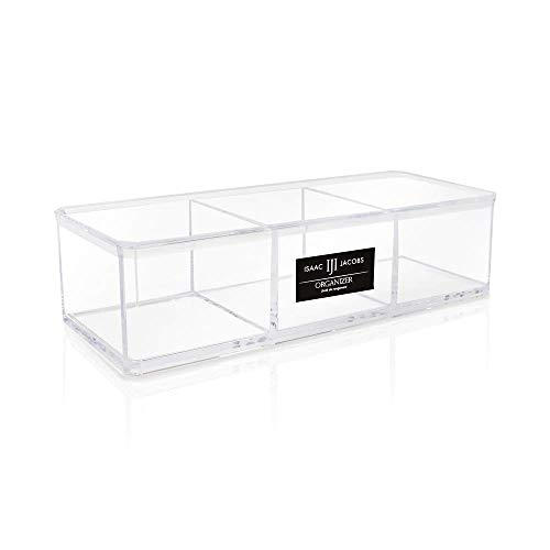 Isaac Jacobs Clear Acrylic 3 Section Organizer- Three...