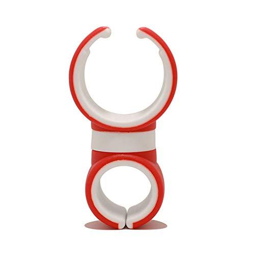 ihreesy Soporte para Teléfono Móvil para Bicicleta,Soporte Universal para Teléfono Celular con Manillar Rotación de 360 °,Salida de Aire para Automóvil Soporte para Teléfono,Rojo Blanco