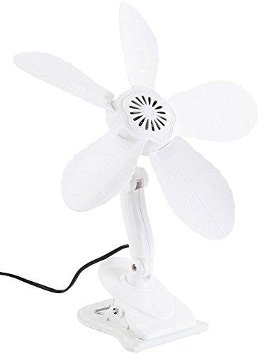 Sichler Haushaltsgeräte Klemm Ventilator leise: Tisch-Ventilator mit Befestigungs-Clip, 11 Watt, Ø 34 cm (Klemmventilator)
