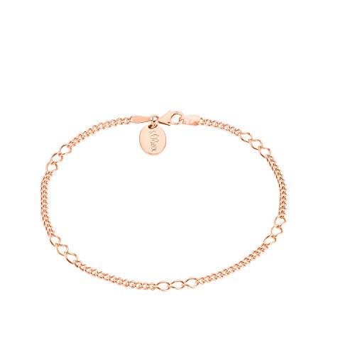 s.Oliver Pulsera para mujer de plata 925 chapada en oro rosa
