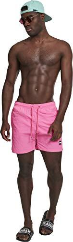 Urban Classics Block Swim Shorts Pnt, Pantalones Cortos para Hombre, Rosa (Neonpink 00355), Medium