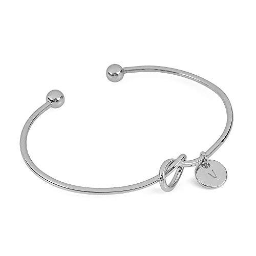UINGKID Damen-Armband Charm Kreative Stilvolle Europäischen und amerikanischen Stil Herzform Metall einfach geknotet 26 Buchstaben
