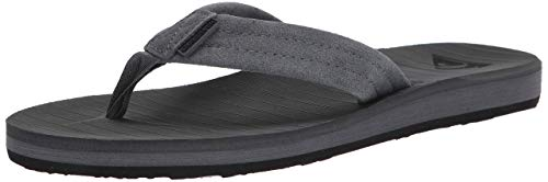 Quiksilver mens Flip Flop Sandal, Grey/Grey/Black, 10 US