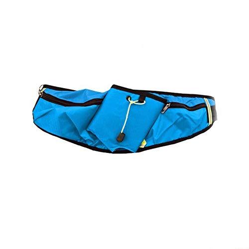 WENTS Sport Hüfttasche Gürteltasche Hüfttasche Bauchtasche für Trinkflasche Sports Trinkgürtel Waistpacks für Outdoors Fitness Ausgeführt Radfahren Wandern Walking (Blau)
