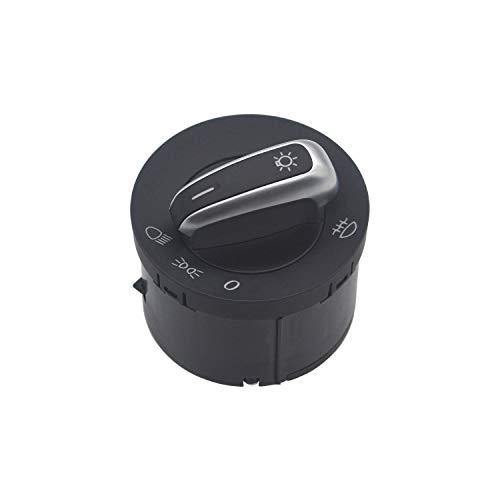 ZEALfix Interruptor de Perilla de Control de la luz Antiniebla del faro de los faros Delanteros 3C8941431B para Jetta Golf 5 6 Passat B6 Rabbit Tiguan Caddy