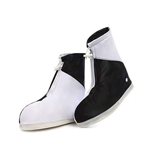 HXxxxxx Transparente Portátil Impermeable Cubierta del Zapato Cubierta del Zapato de Lluvia Día lluvioso Protección contra la Lluvia Botas de Lluvia Antideslizantes(Size:XXL)