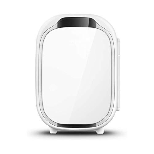 XTZJ Mini nevera para dormitorio, 4 l / 6 latas Frigorífico portátil y refrigerador eléctrico y más cálido, refrigerador de automóviles con ac / dc, nevera pequeña para habitación, oficina, do