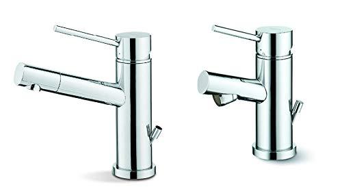 Newform X-Trend Kit Miscelatore monocomando per lavabo con terminale orientabile + Miscelatore monocomando per bidet Art 2210 + Art 2225