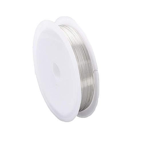 HLH Joyería de Alambre de 20 Metros desteñible Alambre de Cobre for la joyería Que Hace DIY Accesorios de la Pulsera de Metal de Color rebordeando el Alambre for joyería Que Hace 0.2-1mm