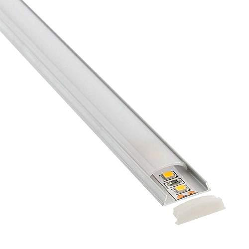 KIT - Perfil aluminio flexible FLEX para tiras LED, 2 metros