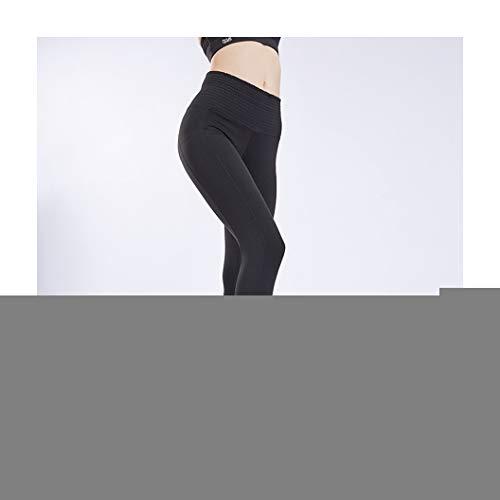 KKMAOAO Damen Yoga-Hose, modisch, Fitness, eng anliegend, hohe Taille, atmungsaktiv, Schwarz, Sporthose, Sommer, Outdoor, Reisen, Alltag L farbe