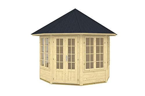 Gartenhaus LOUISE II - 4F Pavillon 288x288cm - 40mm - Inkl. Fußboden+Verglasung