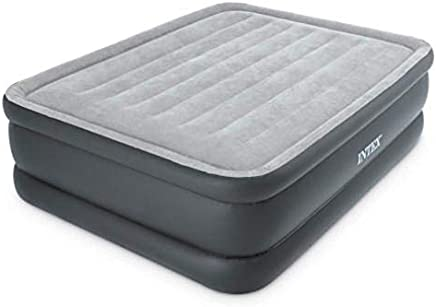 Intex 64140 Airbed Inflatable Double Mattress With Built-In  Electric Pump 152x203x51