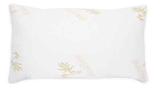 Internet's Best Shredded Memory Foam Pillow with Bamboo Cover - King - Ultra Soft Breathable Pillowcase - Hypoallergenic Orthopedic Support