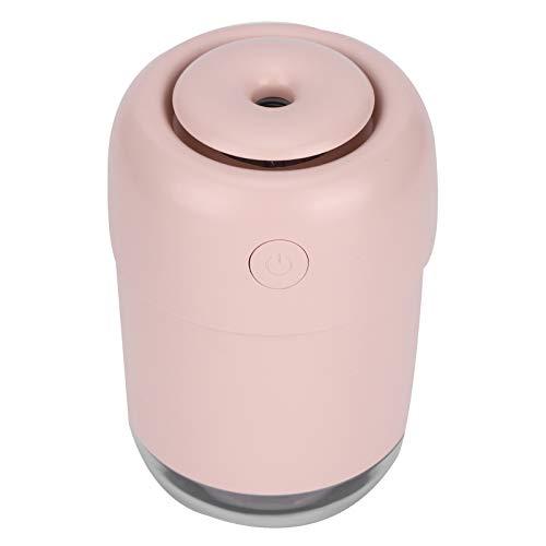 Omabeta Mini humidificador de 120 ml con luz Nocturna, humidificador de Aire, humidificador de Niebla, humidificador de Coche para el hogar, Dormitorio, Oficina(Pink)